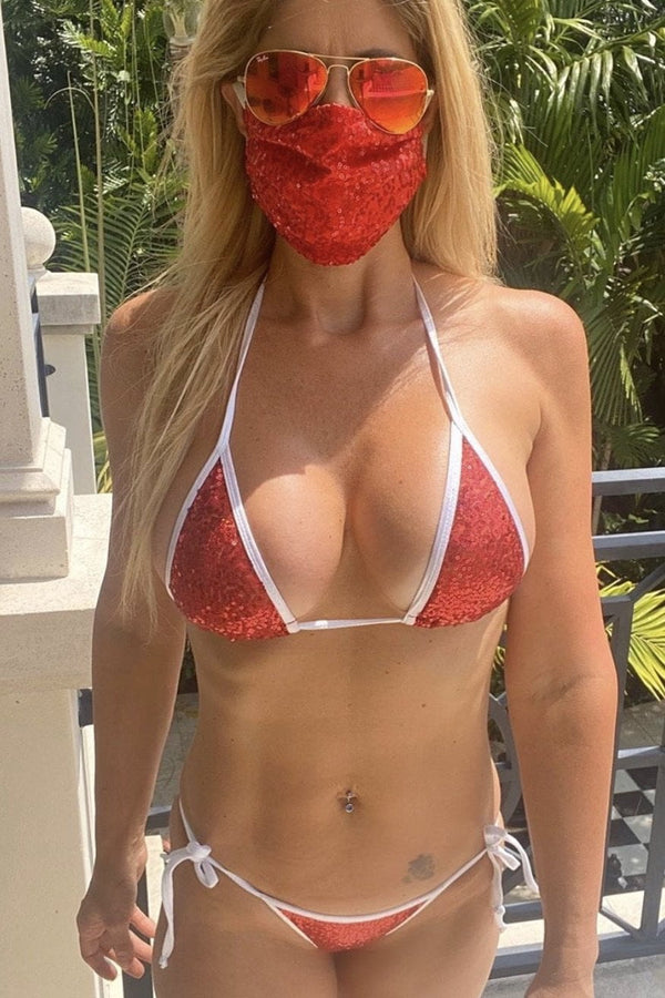Bell Beachwear Miami Sequin Bikini With Matching Face Mask