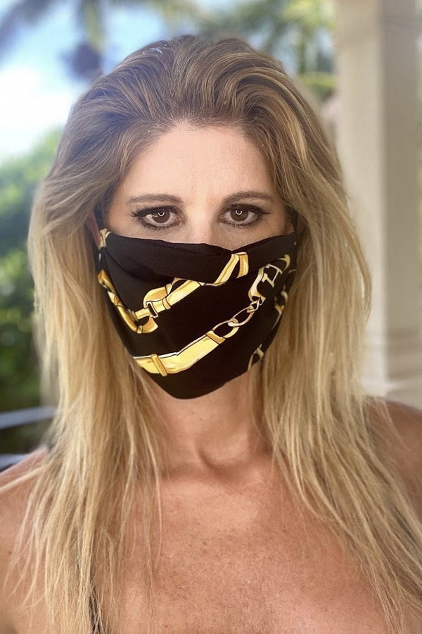 Bell Beachwear Protective Chain Print Face Masks