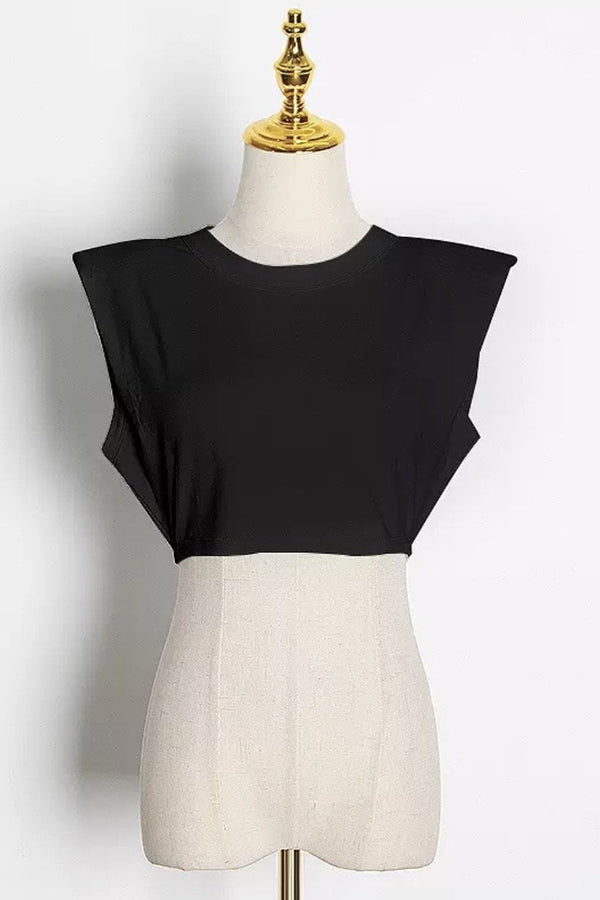 Jessica Bara Nelly Sleeveless Cropped T-shirt