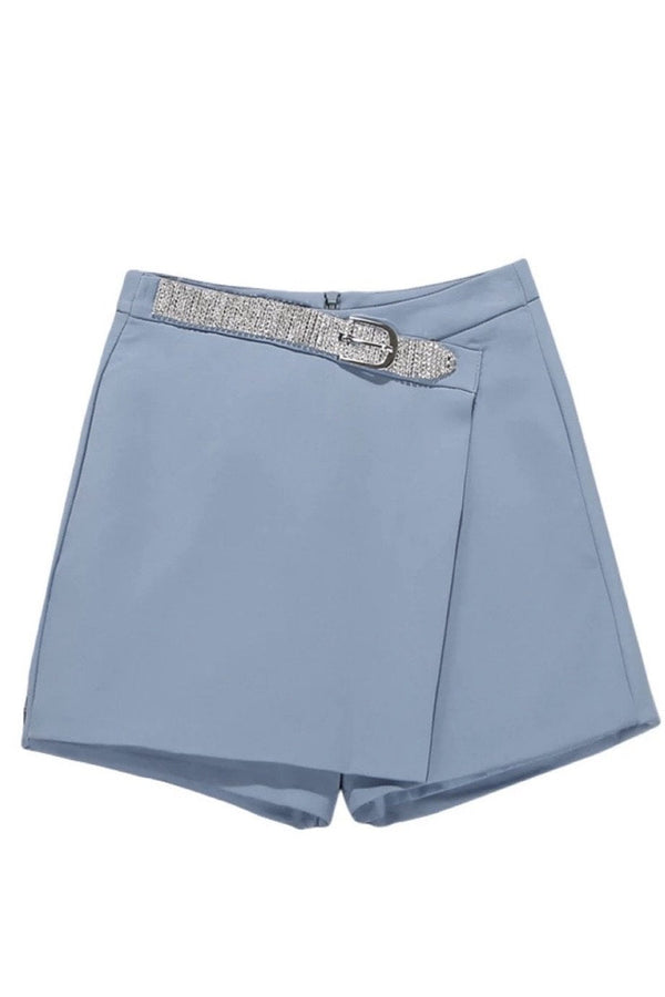 Jessica Bara Isla Diamond Belt High Waited Shorts