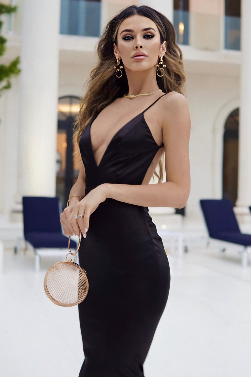 Jessica Bara Naija V-Neck Backless Gown