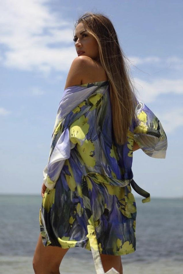 Cioccolato Monica Spring Floral Cover Up