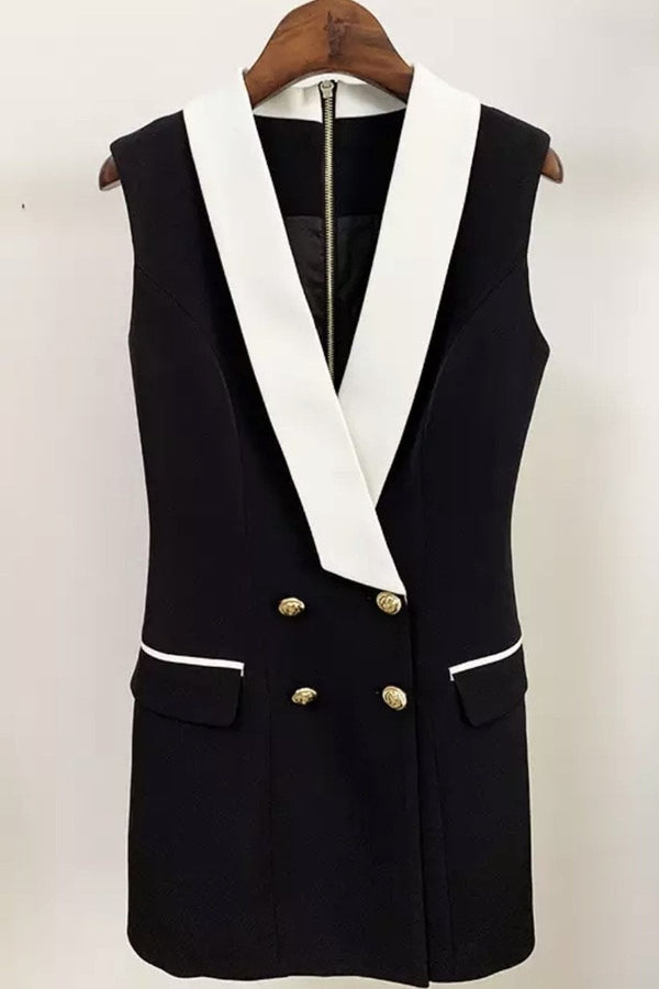 Jessica Bara Maine Sleeveless Double Breasted Blazer Dress