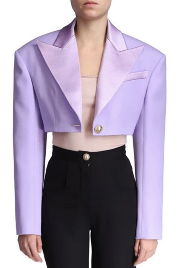 Jessica Bara Dixie Long Sleeve Cropped Blazer