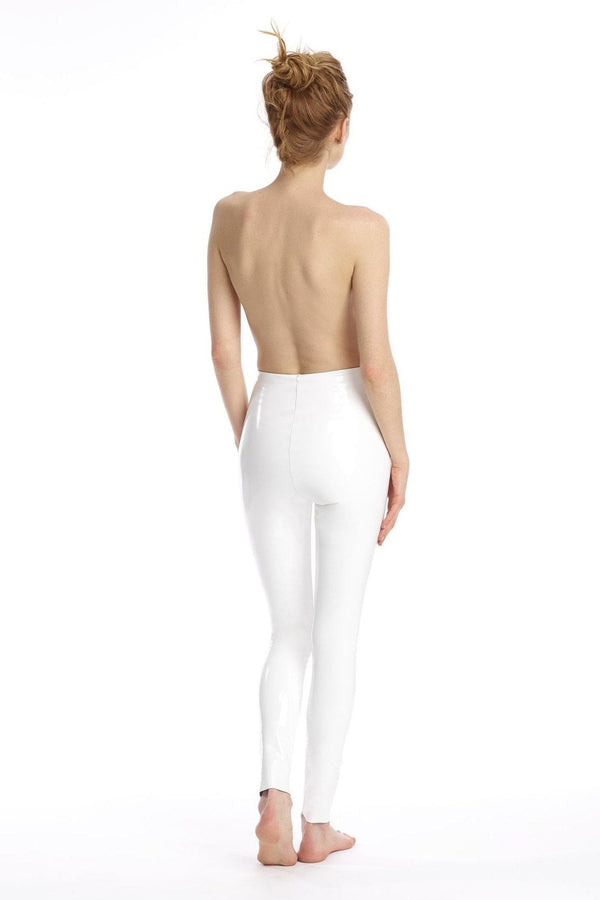 Commando Faux White Patent Leather Leggings With Perfect Control