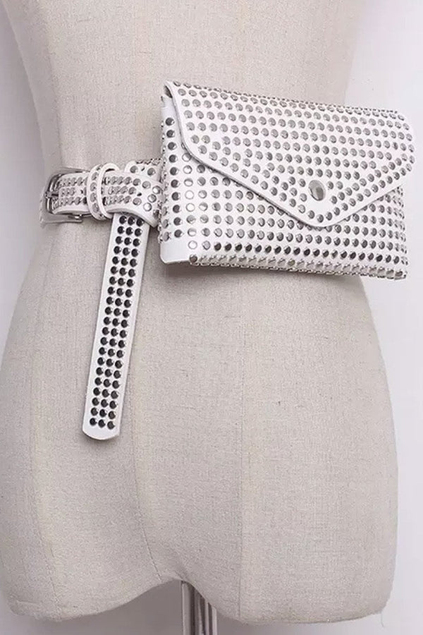 Jessica Bara Gabriel Faux Leather Studded Belt Bag