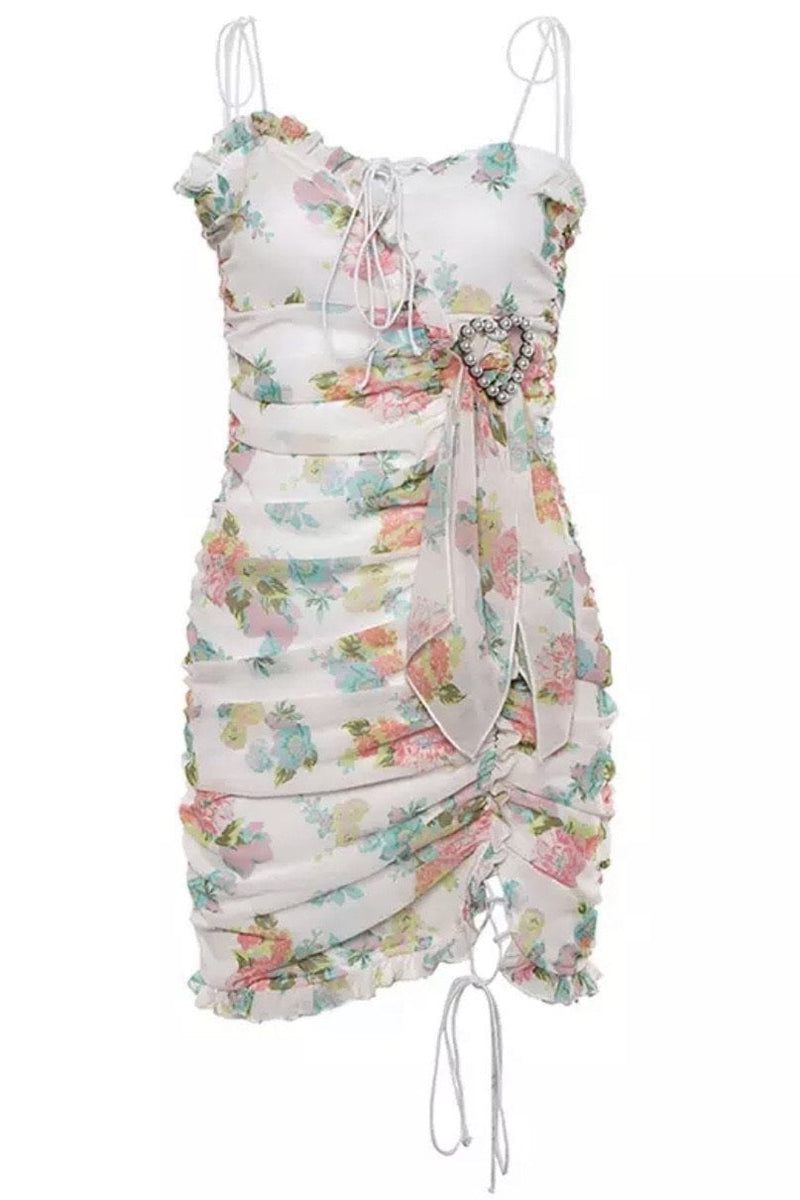Jessica Bara Regina Floral Bodycon Mini Dress