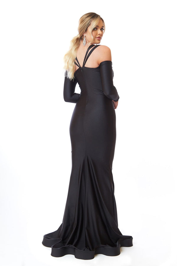 Atria Long Sleeve Double Strap Gown