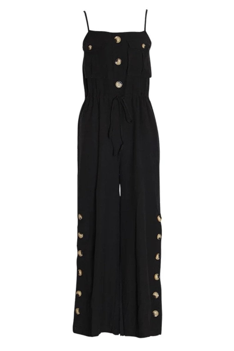 Jessica Bara Siggy Wide Leg Button Jumpsuit