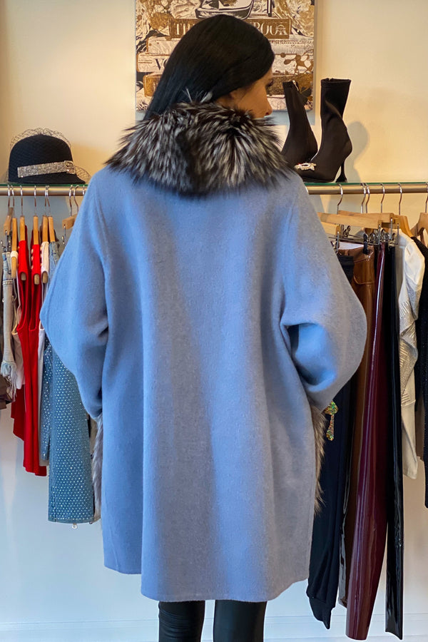 Luigi Long Sleeve Fur Coat