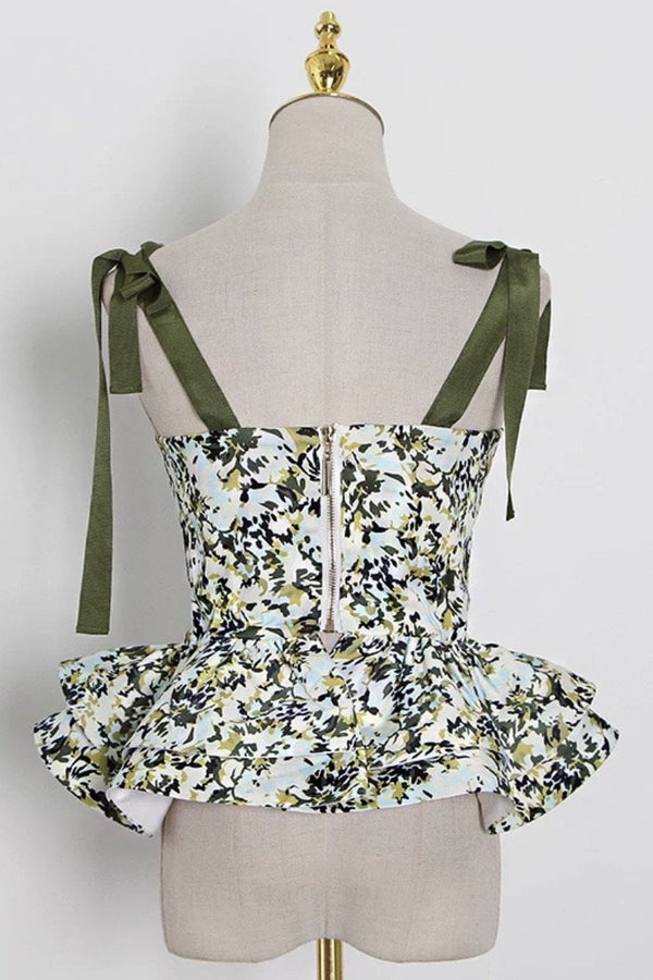 Jessica Bara Dacey Floral Bustier Top