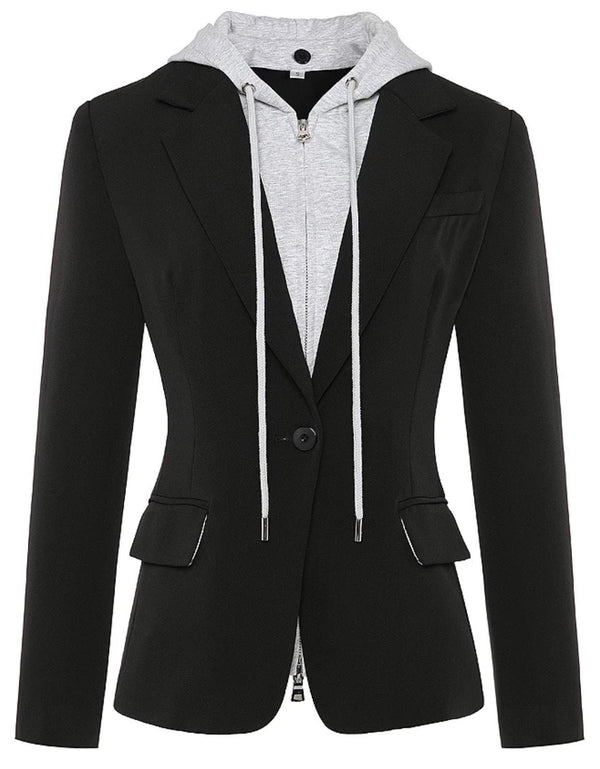 Jessica Bara Kristina Sweatshirt Blazer With Removable Hood