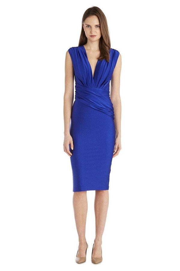 Jessica Bara Reese Draped Bodycon Midi Dress