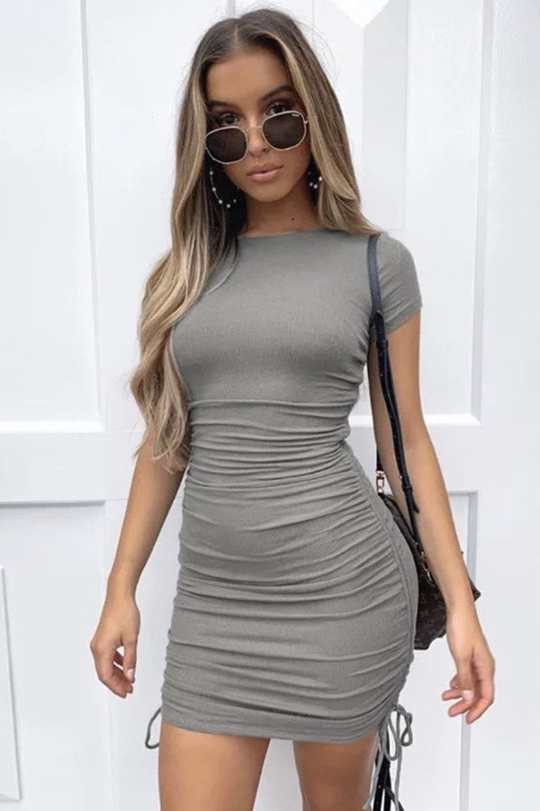 Jessica Bara Booker Ruched Bodycon Mini Dress