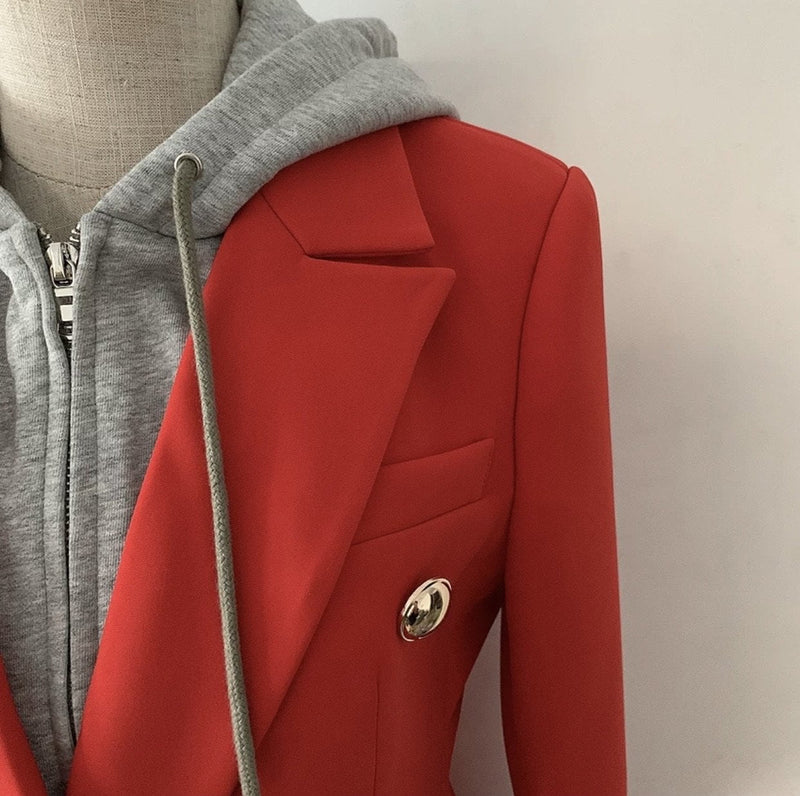 Jessica Bara Ella Sweatshirt Blazer With Removable Hood