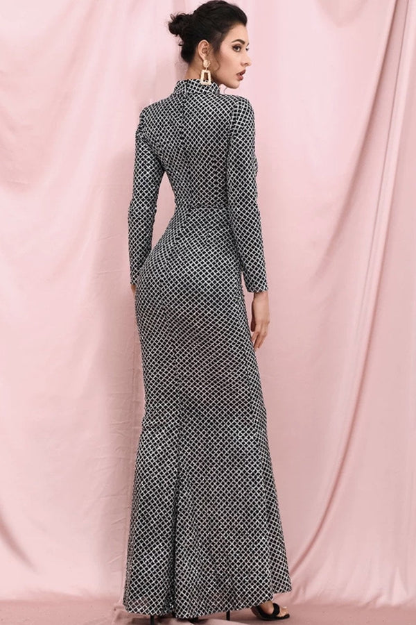 Jessica Bara Stefi Glitter Cut Out Bodycon Gown