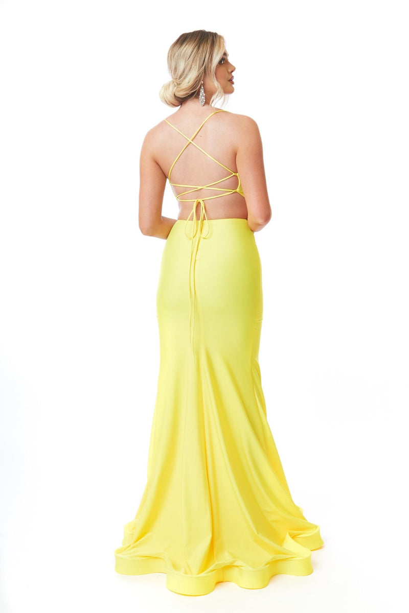 Atria Cowl Neck Two Piece Gown