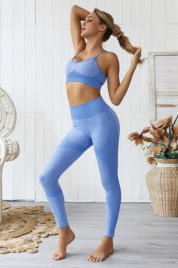 Jessica Bara Roxy Sports Bra and Legging Two Piece Set