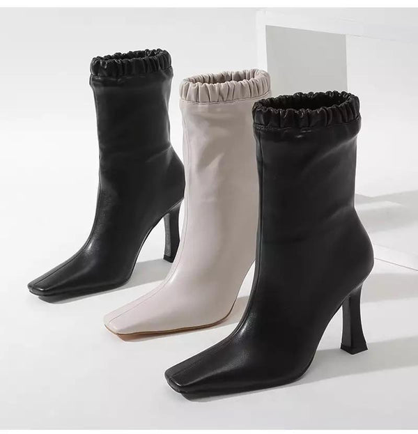 Jessica Bara Destiny Faux Leather Ankle Booties