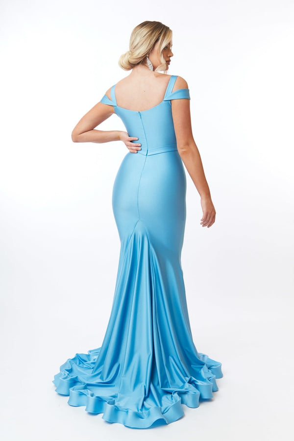 Atria Double Strap V Neck Gown