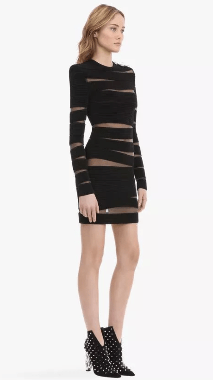Jessica Bara Aspen Long Sleeve Bodycon Mini Dress
