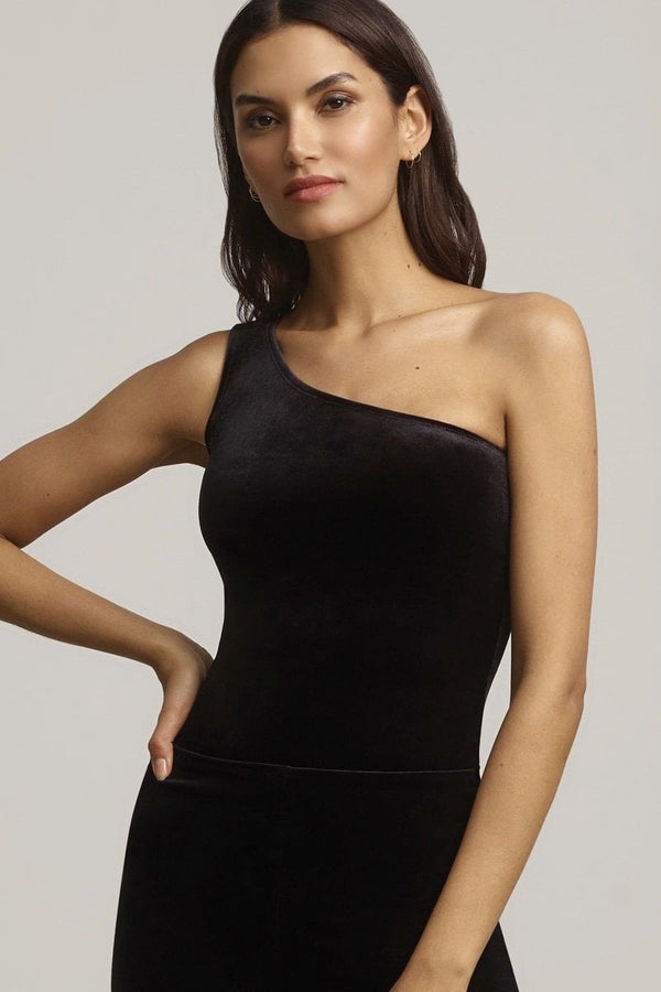 Commando Velvet One-Shoulder Bodysuit