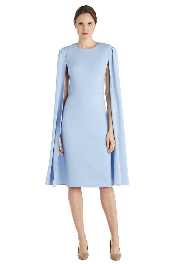 Jessica Bara Baker Split Sleeves Midi Dress