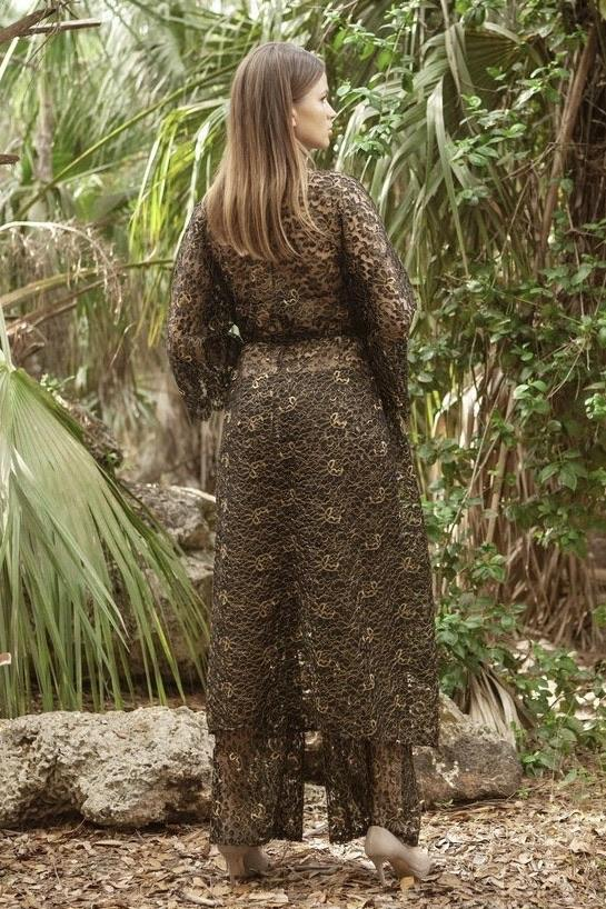 Cioccolato Gigi Lace Cardigan and Pant Two Piece Set