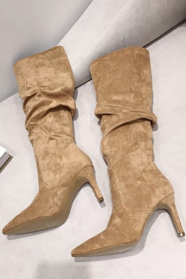 Jessica Bara Marcus Faux Suede Knee High Boots