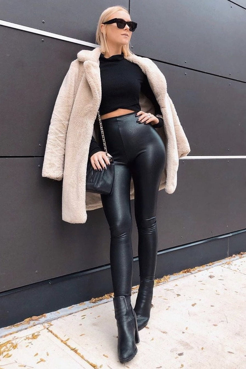 Commando Faux Leather Leggings with Perfect Control