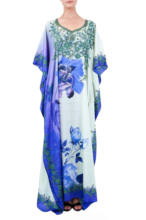 Colors Of Fashion Floral Kaftan Maxi Dress