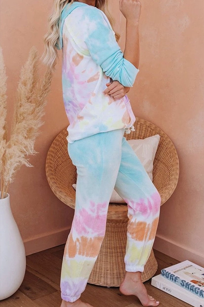 Jessica Bara Lyla Tie Dye Hoodie and Jogger Two Piece Set