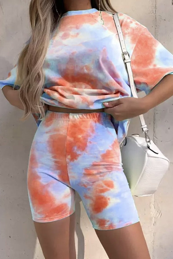 Jessica Bara Kenya Tie Dye Top And Short Two Piece Set