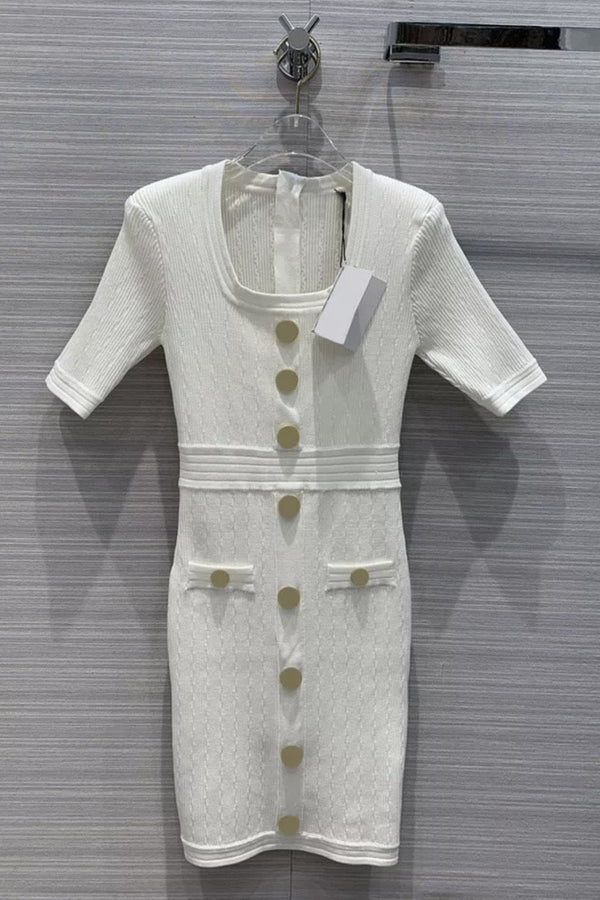 Jessica Bara Everett Short Sleeve Knitted Dress