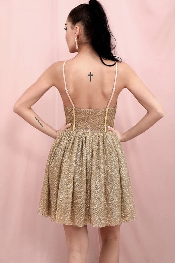 Jessica Bara Esperanza Bustier Glitter Mini Dress