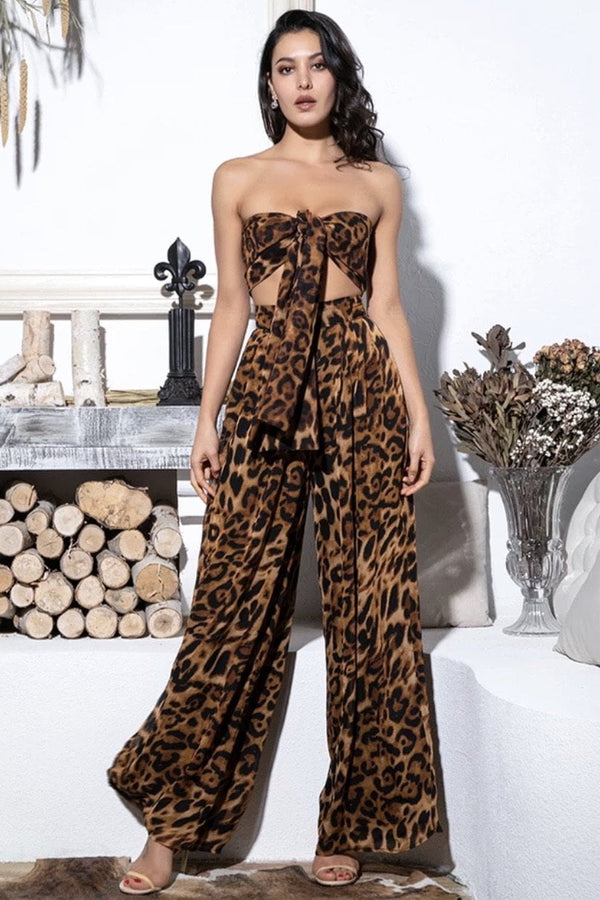 Jessica Bara Kameron Crop Top And Pant Two Piece Set