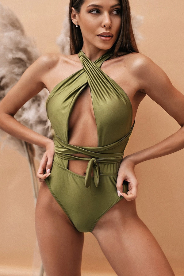 Jessica Bara Alanna Strappy Cut Out Swimsuit