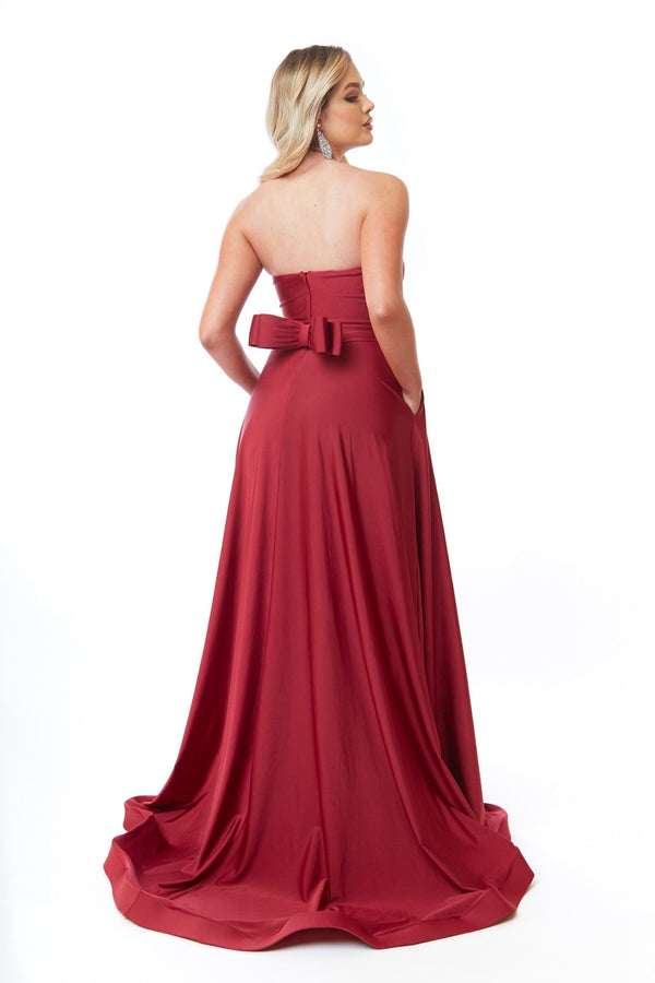 Atria Strapless Bow Gown
