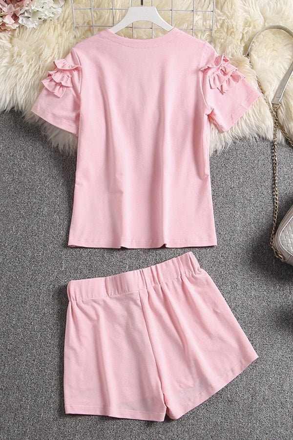 Jessica Bara Megan T-Shirt And Short Two Piece Set