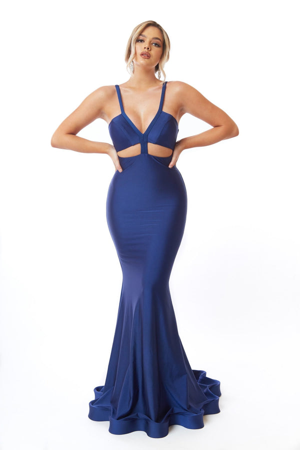 Atria Thin Strap Cut Out Gown