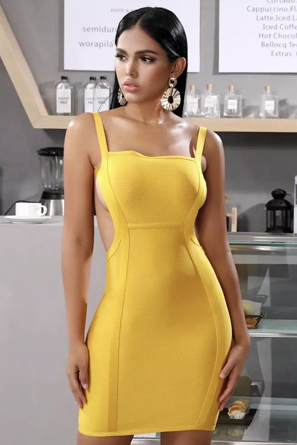 Jessica Bara Alivia Backless Bandage Mini Dress