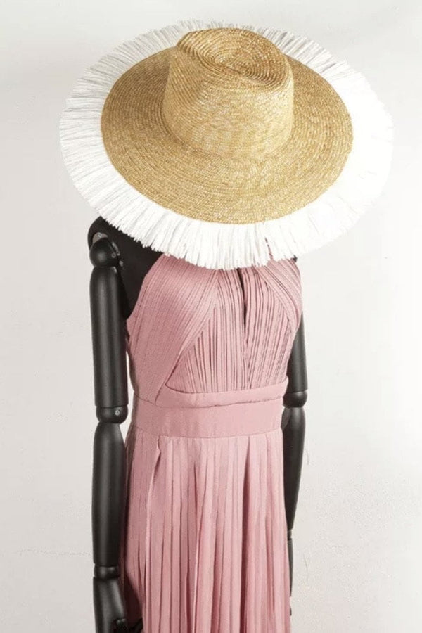 Jessica Bara Amabel Fringed Wide Brim Hat