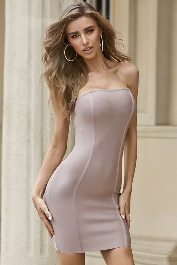 Jessica Bara Channing Strapless Bodycon Mini Dress