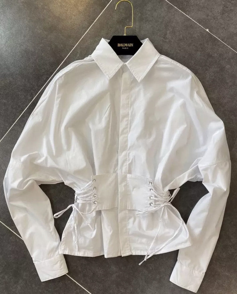Jessica Bara Anne Corset Button Down Shirt