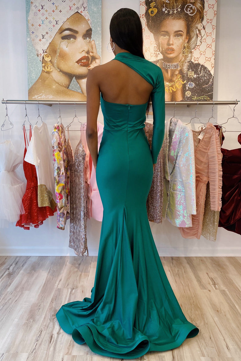 Jessica Bara Soma One Shoulder Bodycon Gown