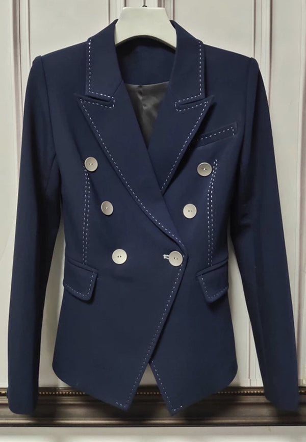 Jessica Bara Maxton Double Breasted Blazer