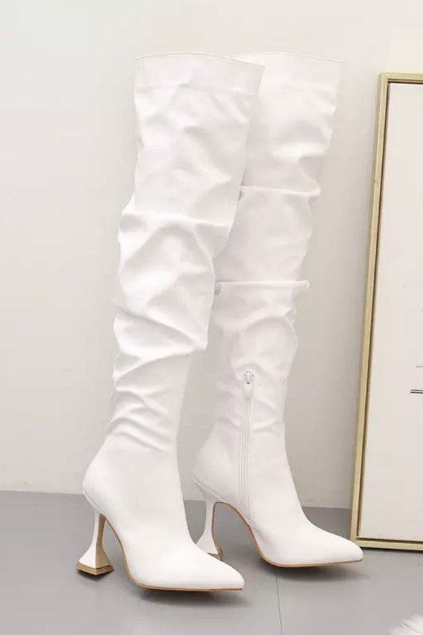 Jessica Bara Ruby Over The Knee Leather Boots
