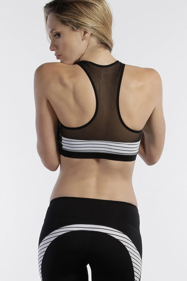 Track & Bliss Patchwork Sports Bra