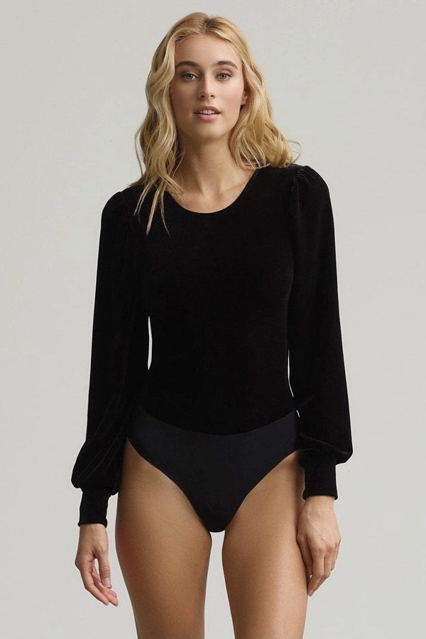 Commando Velvet Balloon Sleeve Bodysuit