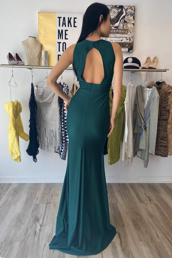 Atria Cut-Out Backless Bodycon Gown